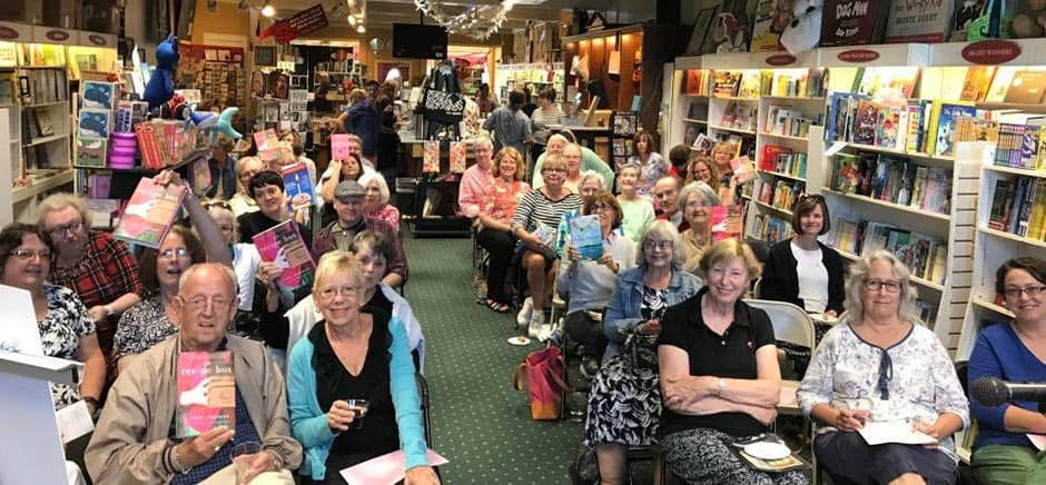 Readers in the audience of a book tour event for Wade Rouse/Viola Shipman